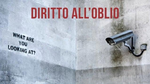 DIRITTO ALL'OBLIO