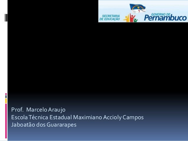 Prof. Marcelo AraujoEscolaTécnica Estadual Maximiano Accioly CamposJaboatão dos Guararapes
