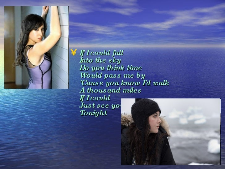 If i could just see you tonight lyrics
