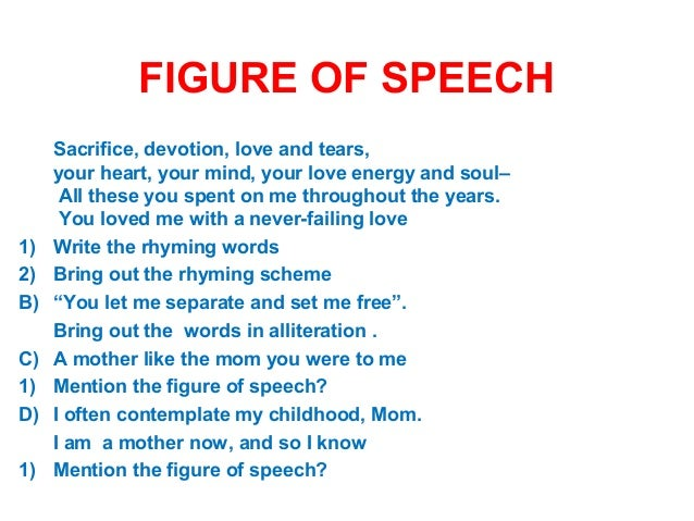 how to find out figure of speech in a poem
