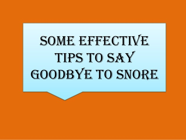 how to solve snoring problem