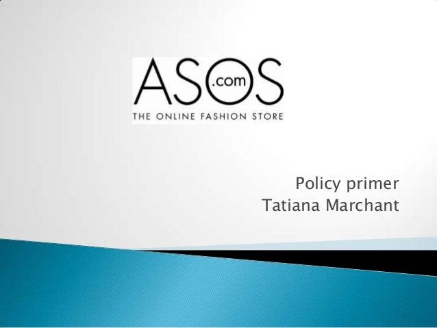 Policy primer Tatiana Marchant