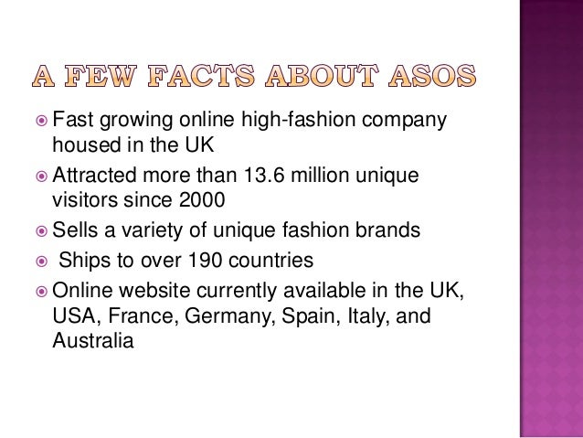 asos presentation Presentation courses asos is uk's online retailing fashion store with a wide range of own-labeled asos case slides 1 group.