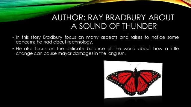 A sound of thunder theme essay format