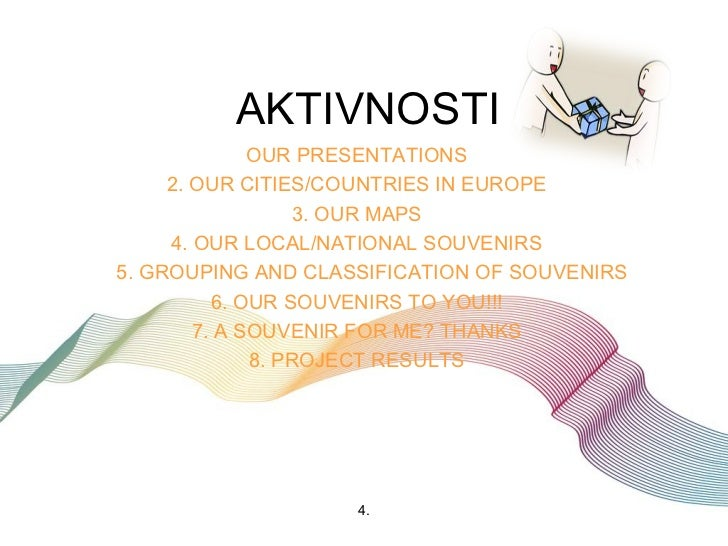 AKTIVNOSTI              OUR PRESENTATIONS     2. OUR CITIES/COUNTRIES IN EUROPE                  3. OUR MAPS     4. OUR LO...
