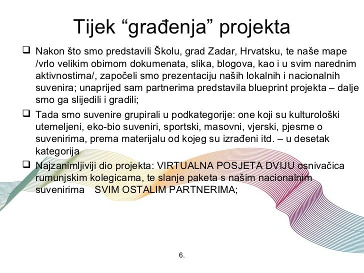"""Tijek """"građenja"""" projekta Nakon što smo predstavili Školu, grad Zadar, Hrvatsku, te naše mape  /vrlo velikim obimom dokum..."""