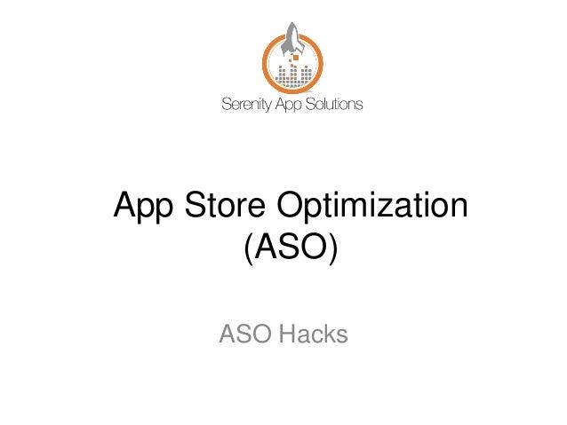 App Store Optimization (ASO) ASO Hacks