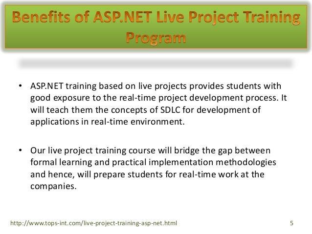 Asp.net live project training