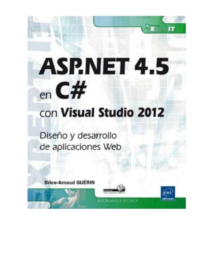 Índice  Información o Título, autor...  Prólogo o Prólogo  Visual Studio 2012 y .NET 4.5 o Novedades de Visual Studio 2...