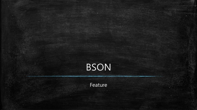 BSON Feature