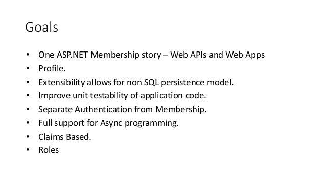 Asp.net identity dot netconf Slide 3