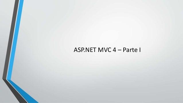 ASP.NET MVC 4 – Parte I