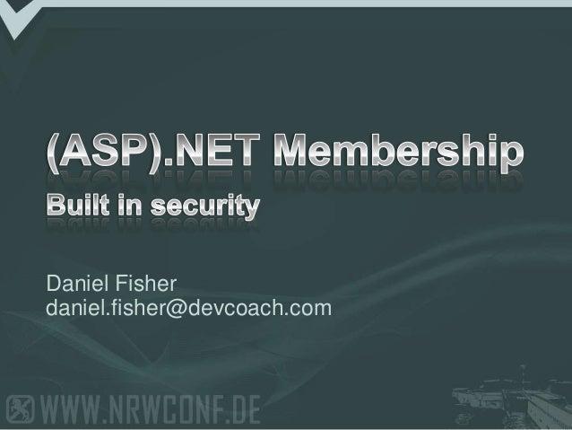 Daniel Fisher daniel.fisher@devcoach.com