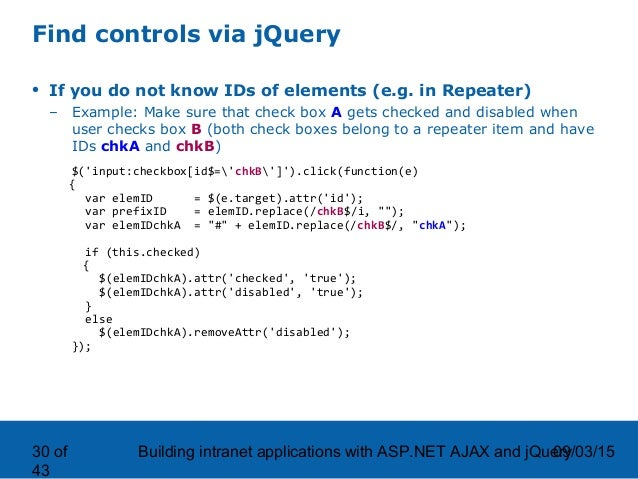 Building intranet applications with ASP NET AJAX and jQuery