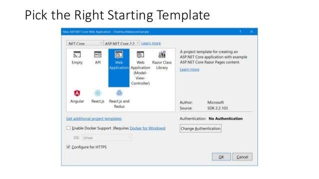 SPA Templates Web App Web API Blank Solution Starting Templates