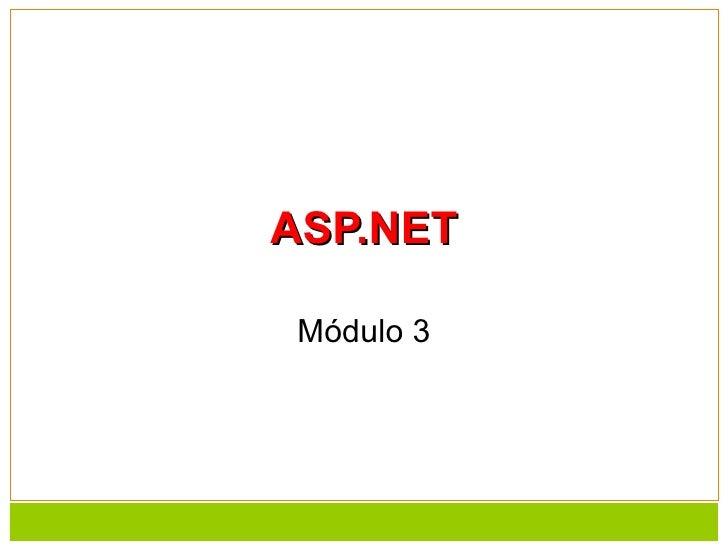 ASP.NET Módulo 3