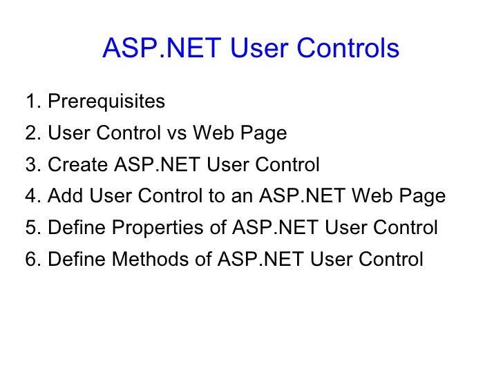 ASP NET User Controls - 20090828