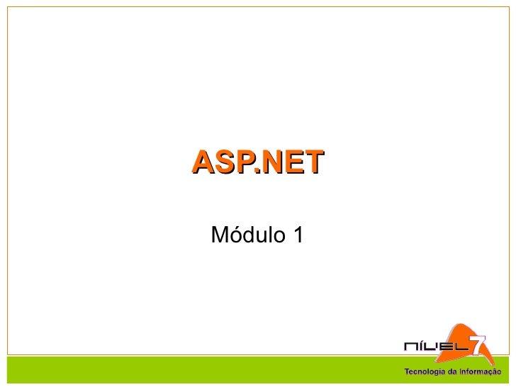 ASP.NET Módulo 1