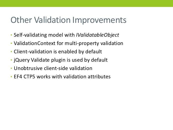 Self validating models mvc conference