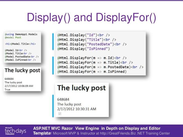 ASP.NET MVC Razor in Depth on Display and Editor Templates