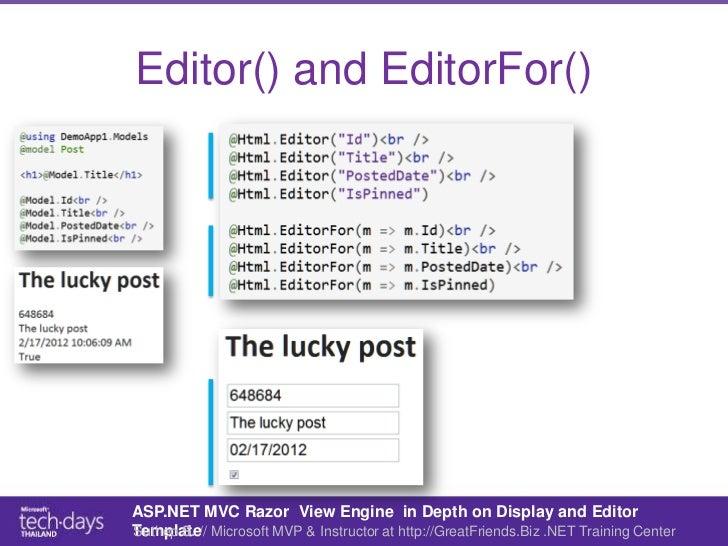Asp mvc razor in depth on display and editor templates editor maxwellsz