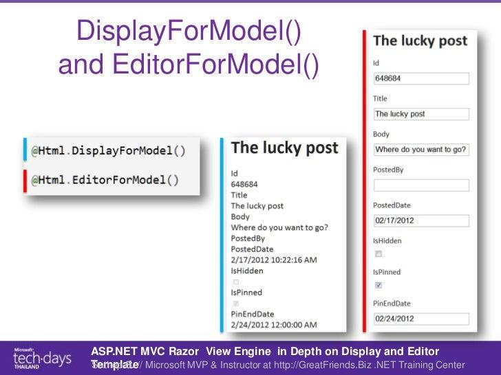 Asp mvc razor in depth on display and editor templates net training centersuthep s 6 maxwellsz