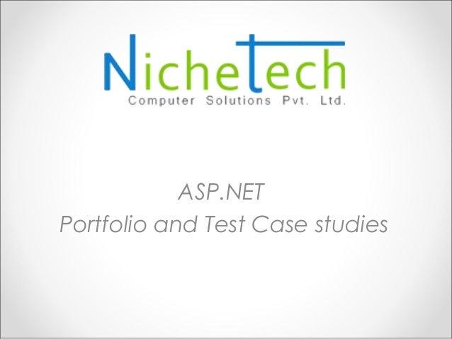 ASP.NETPortfolio and Test Case studies