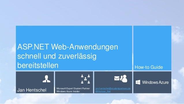 ASP.NET Web-Anwendungenschnell und zuverlässigbereitstellen                                                               ...