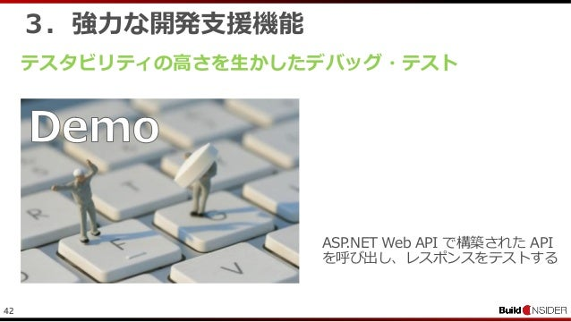 423.強力な開発支援機能テスタビリティの高さを生かしたデバッグ・テストASP.NET Web API で構築された APIを呼び出し、レスポンスをテストする