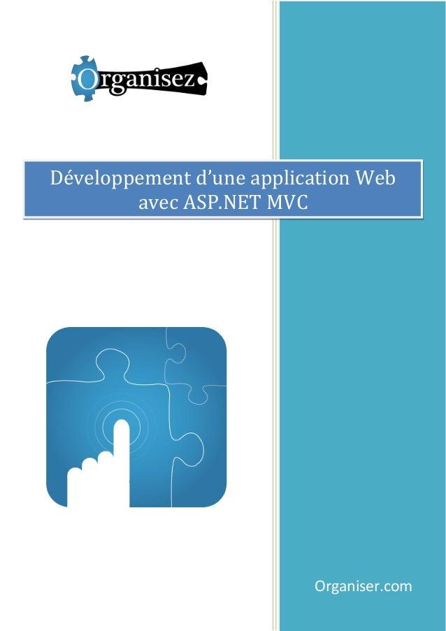 Développement d'une application Web avec ASP.NET MVC  Organiser.com