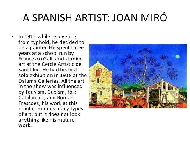 A SPANISH ARTIST: JOAN... Joan Miro Fauvism