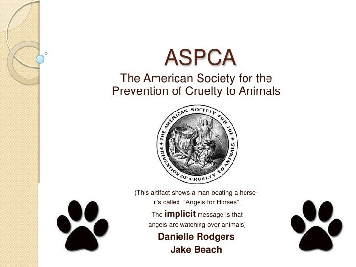 ASPCA <br />The American Society for the Prevention of Cruelty to Animals<br />(This artifact shows a man beating a horse-...