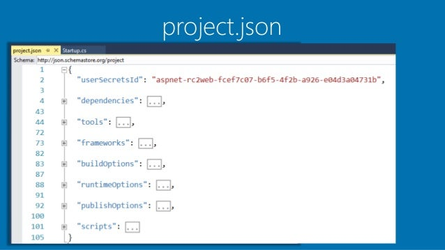 visual studio 2015 asp net web application project template overview