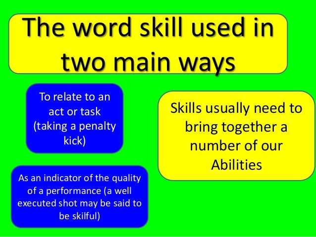 As Pe Skills Abilities And Classification 2013