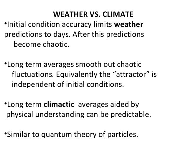 COUNTER-INTUITY OF COMPLEX SYSTEMS: WEATHER VS. CLIMATE