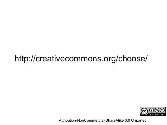 ¿Qué licencia elegir? http://www.flickr.com/photos/opensourceway/4371001458/