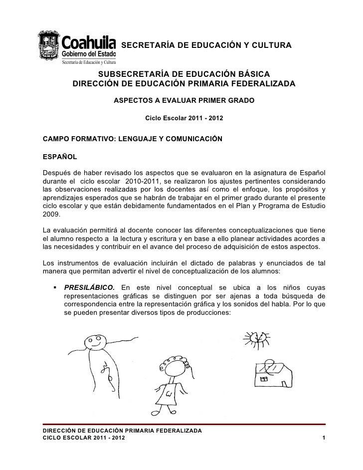 SECRETARÍA DE EDUCACIÓN Y CULTURA              SUBSECRETARÍA DE EDUCACIÓN BÁSICA         DIRECCIÓN DE EDUCACIÓN PRIMARIA F...