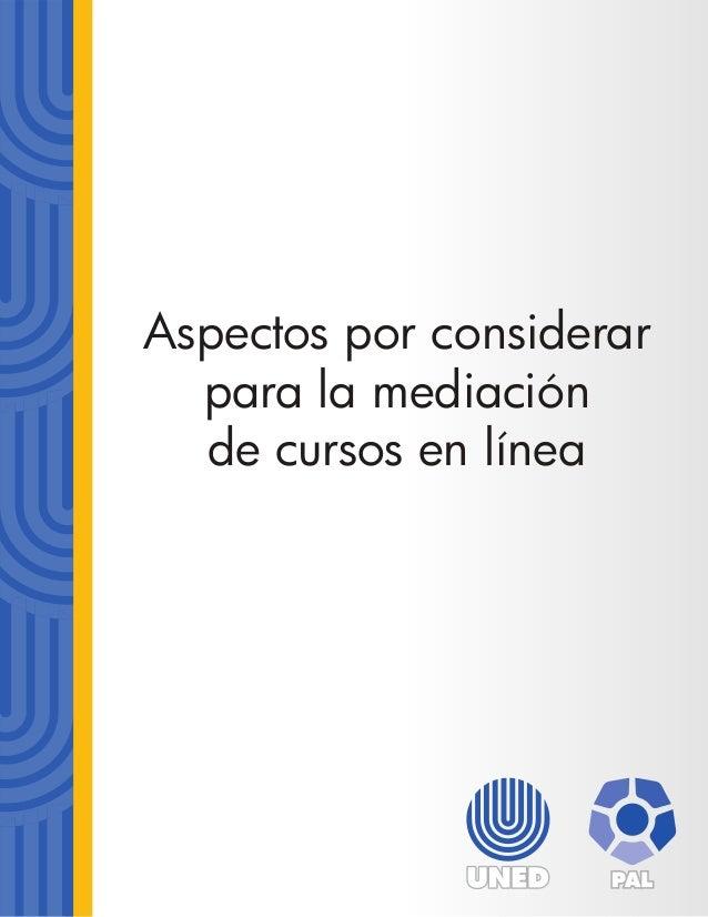 Aspectos por considerar para la mediación de cursos en línea