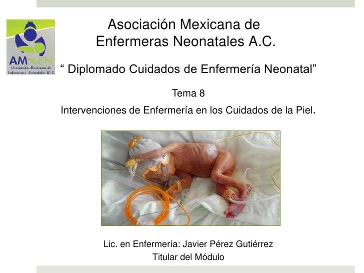 """Asociación Mexicana de       Enfermeras Neonatales A.C."""" Diplomado Cuidados de Enfermería Neonatal""""                       ..."""