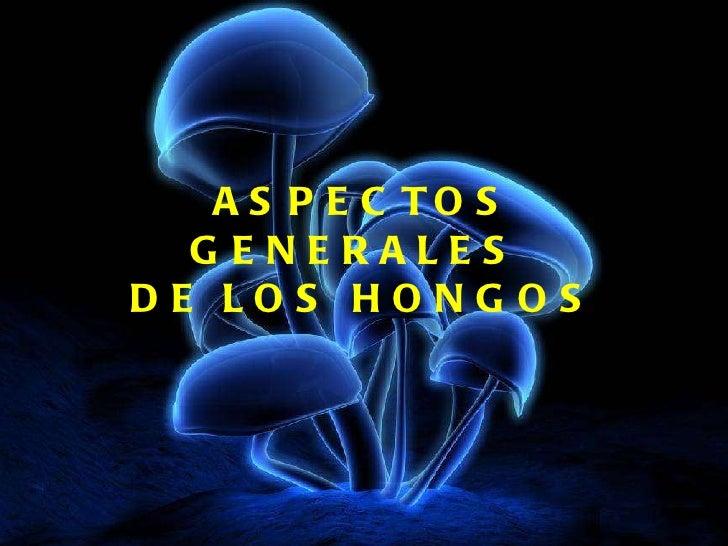 ASPECTOS GENERALES  DE LOS HONGOS