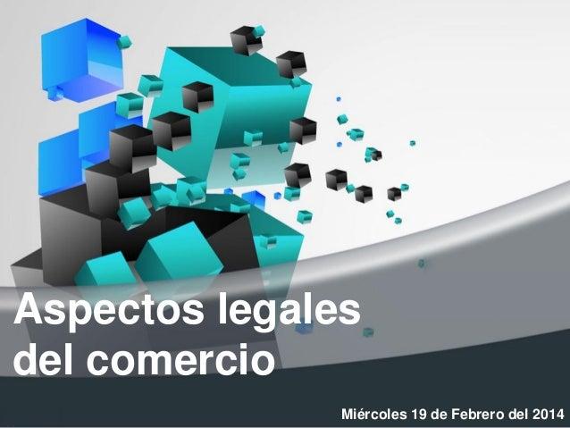 Aspectos legales del comercio Slide 2