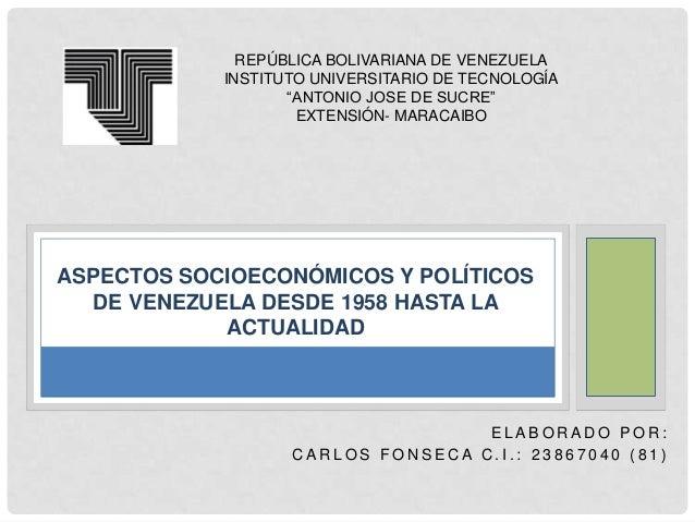 """REPÚBLICA BOLIVARIANA DE VENEZUELA INSTITUTO UNIVERSITARIO DE TECNOLOGÍA """"ANTONIO JOSE DE SUCRE"""" EXTENSIÓN- MARACAIBO  ASP..."""