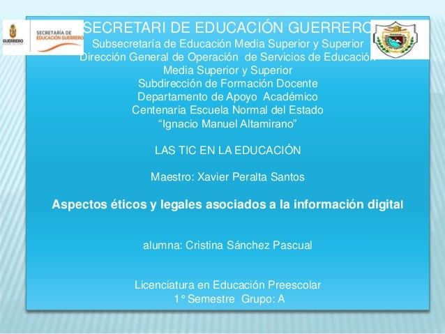 SECRETARI DE EDUCACIÓN GUERRERO  Subsecretaría de Educación Media Superior y Superior  Dirección General de Operación de S...