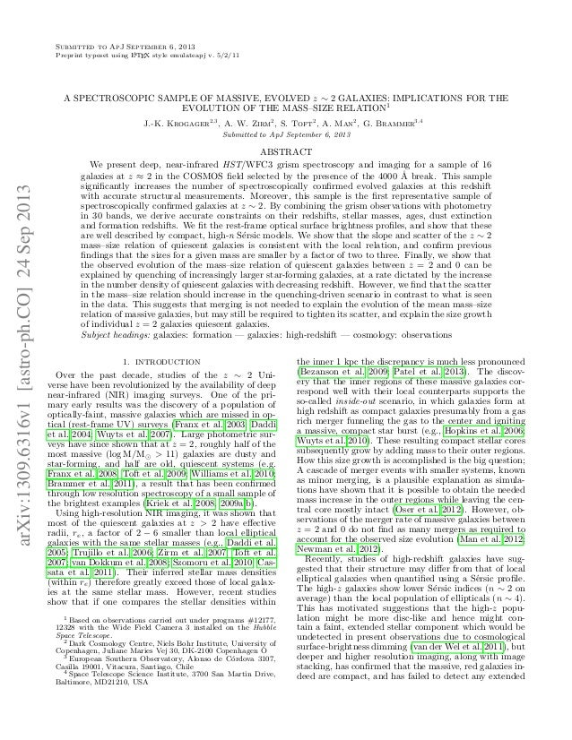Submitted to ApJ September 6, 2013 A Preprint typeset using L TEX style emulateapj v. 5/2/11  A SPECTROSCOPIC SAMPLE OF MA...