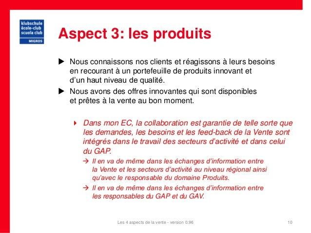 Aspect 3: les produits Nous connaissons nos clients et réagissons à leurs besoins  en recourant à un portefeuille de prod...