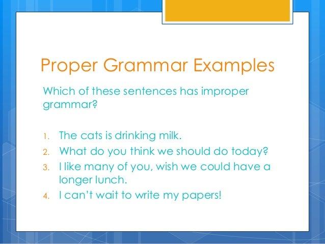 Good grammar gets the girl essay