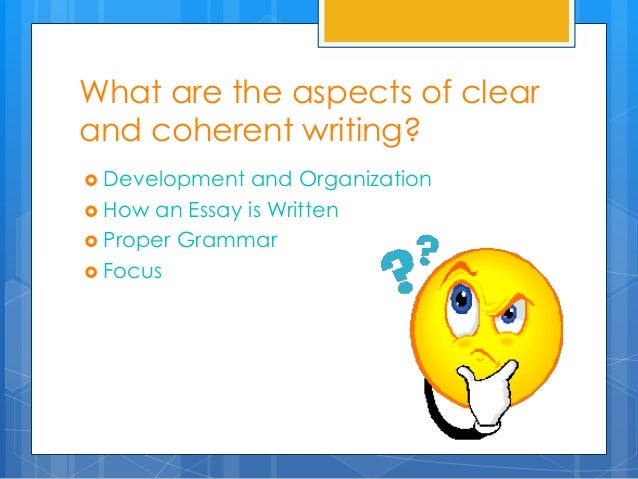 Aspects Of Clear And Coherent Writing