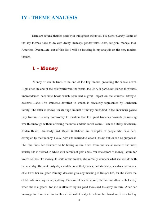 the great gatsby critical analysis pdf