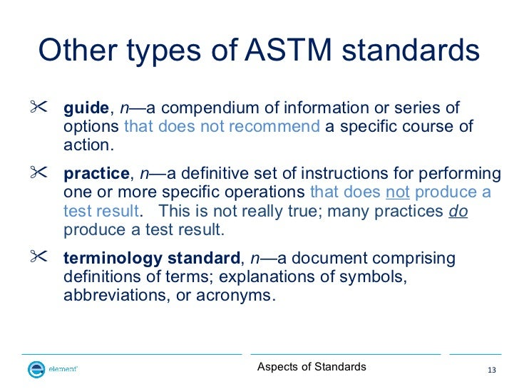 Other types of ASTM standards guide, n—a compendium of information or series of  options that does not recommend a specif...