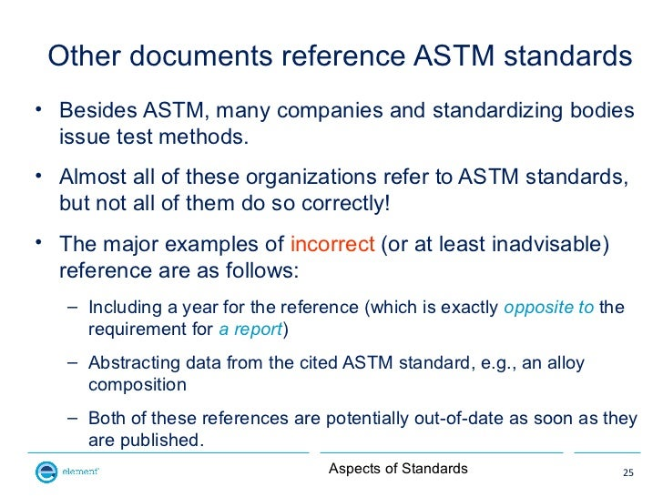 Aspects of Standards
